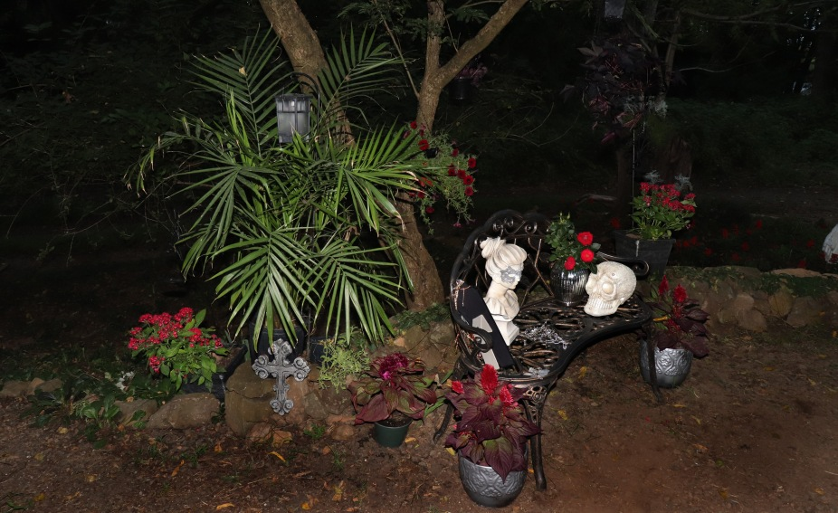 The Gothic Garden at night